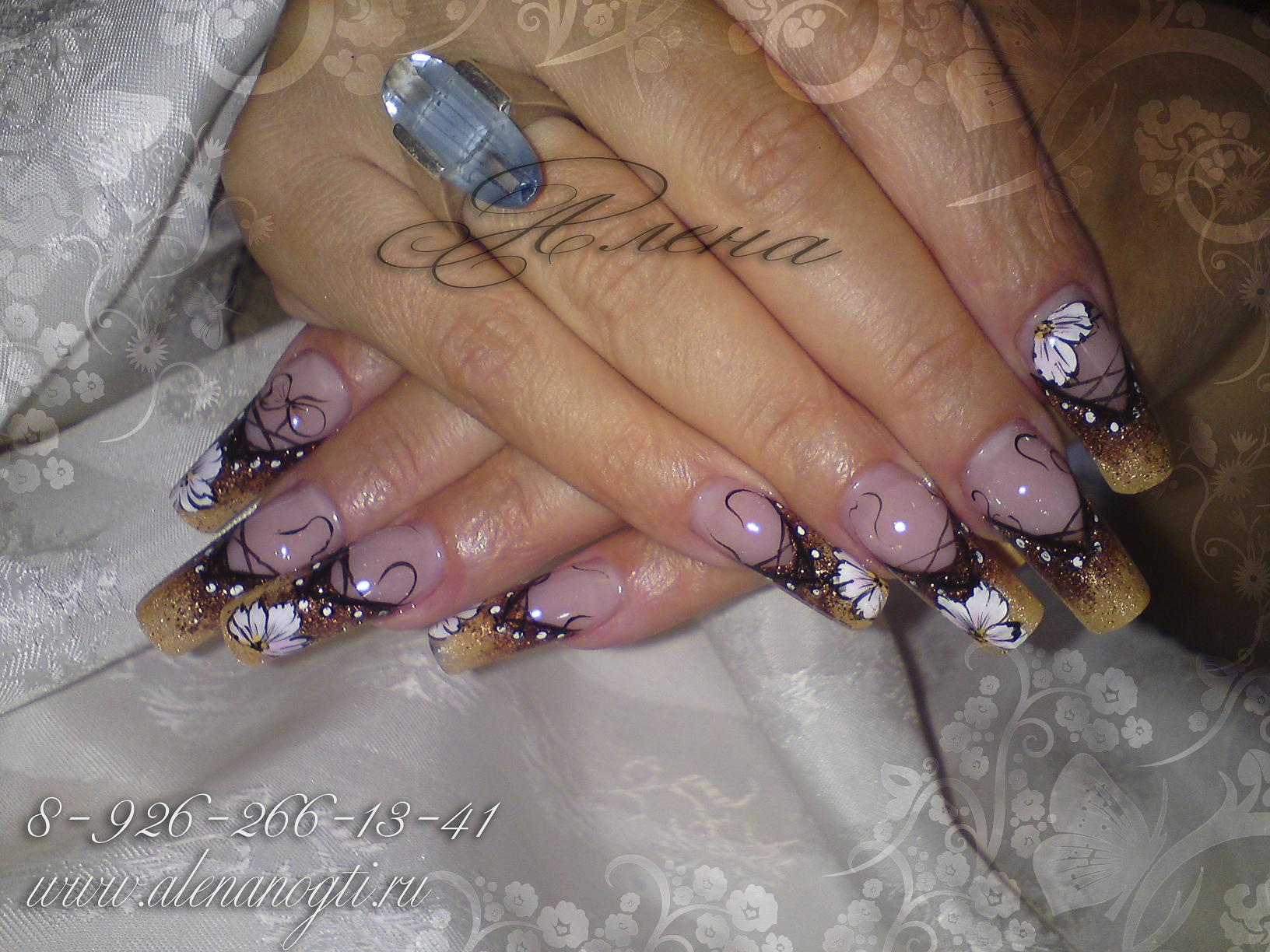 Рисунки ногтей аквариум френч фото